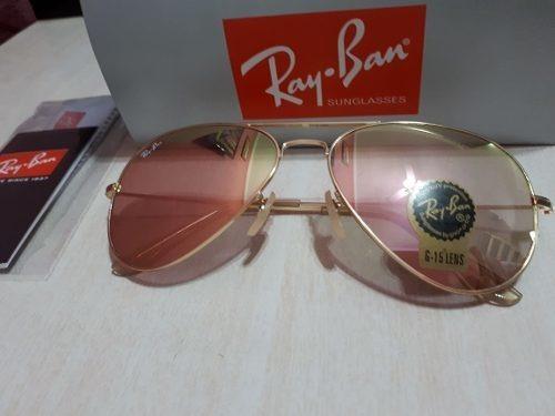 27bc4644ae150 Óculos De Sol Ray Ban Top Aviador Rosa Espelhado - R  249,90 em Mercado  Livre
