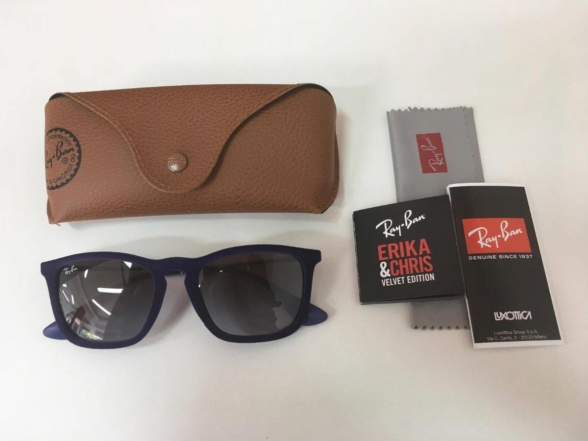 fa0cbdf5923c7 óculos de sol ray-ban veludo - chris velvet azul original. Carregando zoom.