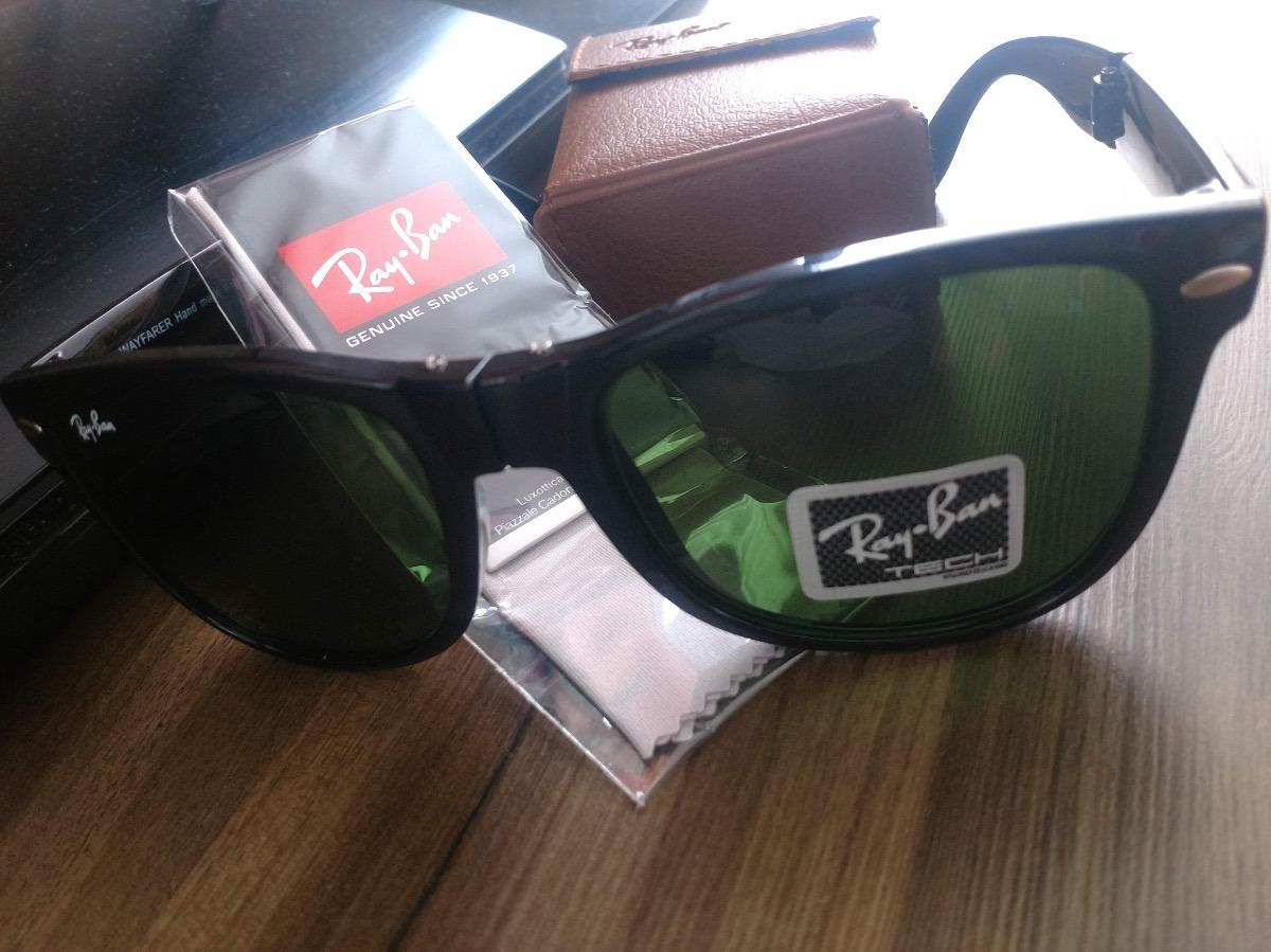 d43cf532b óculos de sol ray-ban wayfarer clássico dobrável preto. Carregando zoom.