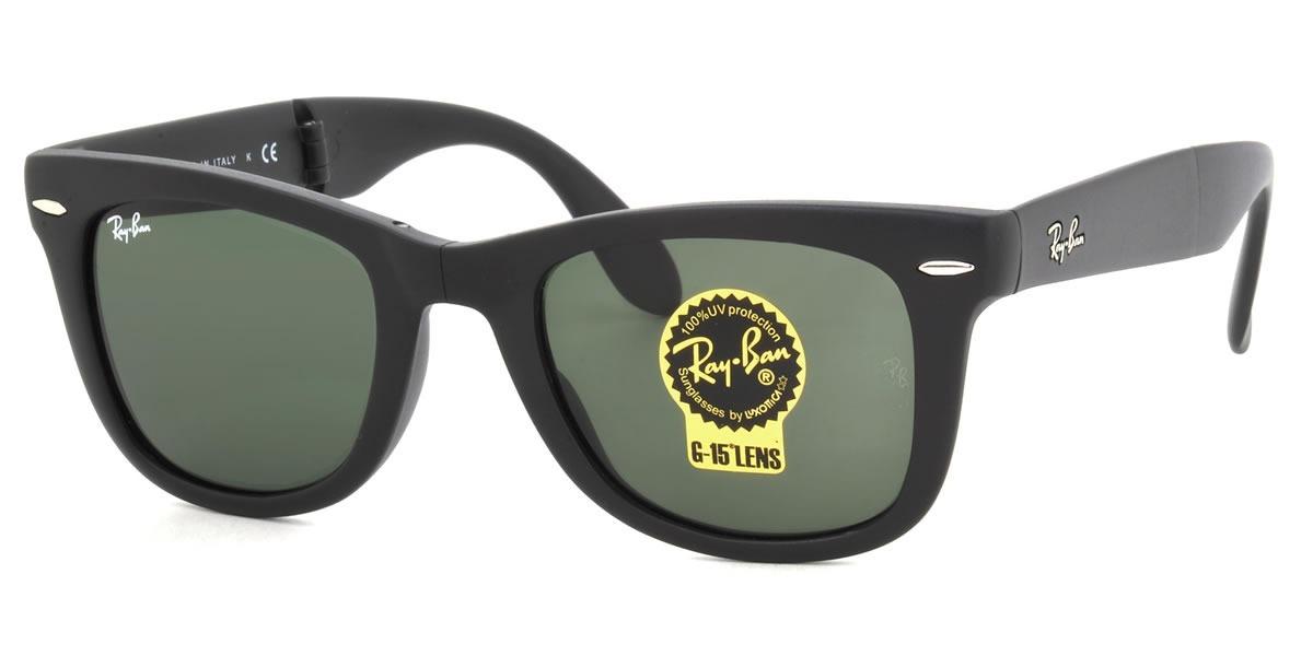 b2e49d99491b1 oculos de sol ray ban wayfarer dobravel 54mm grande fosco. Carregando zoom.