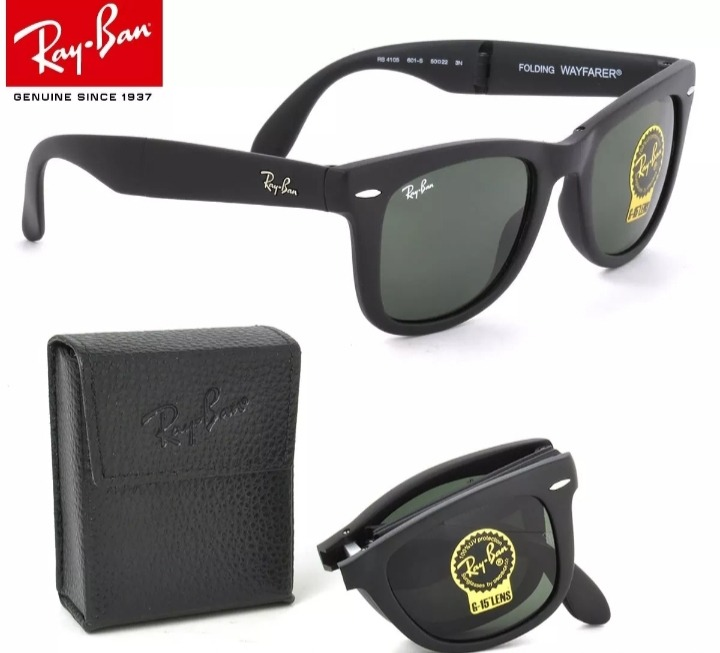 05f5090efd07d Oculos De Sol Ray Ban Wayfarer Dobravel Folding Rb4105 50mm - R  174 ...