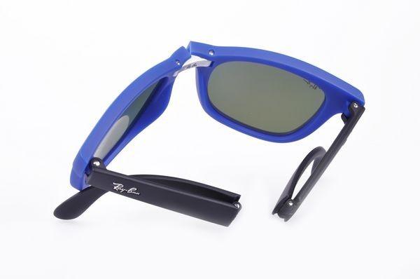 eb8afddf5 Oculos De Sol Ray Ban Wayfarer Dobravel Rb4105 Flash Azul - R$ 347,40 em  Mercado Livre