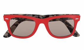 28855f4b7 Óculos De Sol Ray Ban Wayfarer Pop Vermelho Original Novo