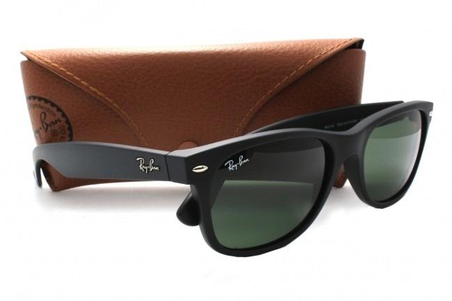 0804555598ec6 Óculos De Sol Ray-ban Wayfarer Preto Fosco R 209,00 + Frete - R  209,00 em  Mercado Livre