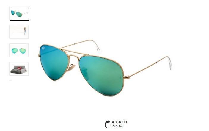 1c599e2395ef1 Oculos De Sol Rayban Aviador 3026 Verde Espelhado Orignal - R  209 ...