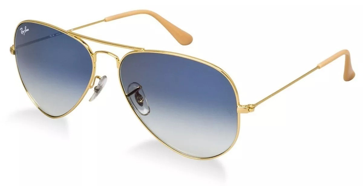 8bf0fd08d5f85 oculos de sol rayban aviador lente cristal azul degradê. Carregando zoom.