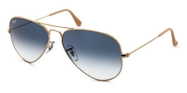 Óculos De Sol Rayban Aviador Rb3025 Dourado Azul Degrade - R  249,00 ... 6a061e7ee1
