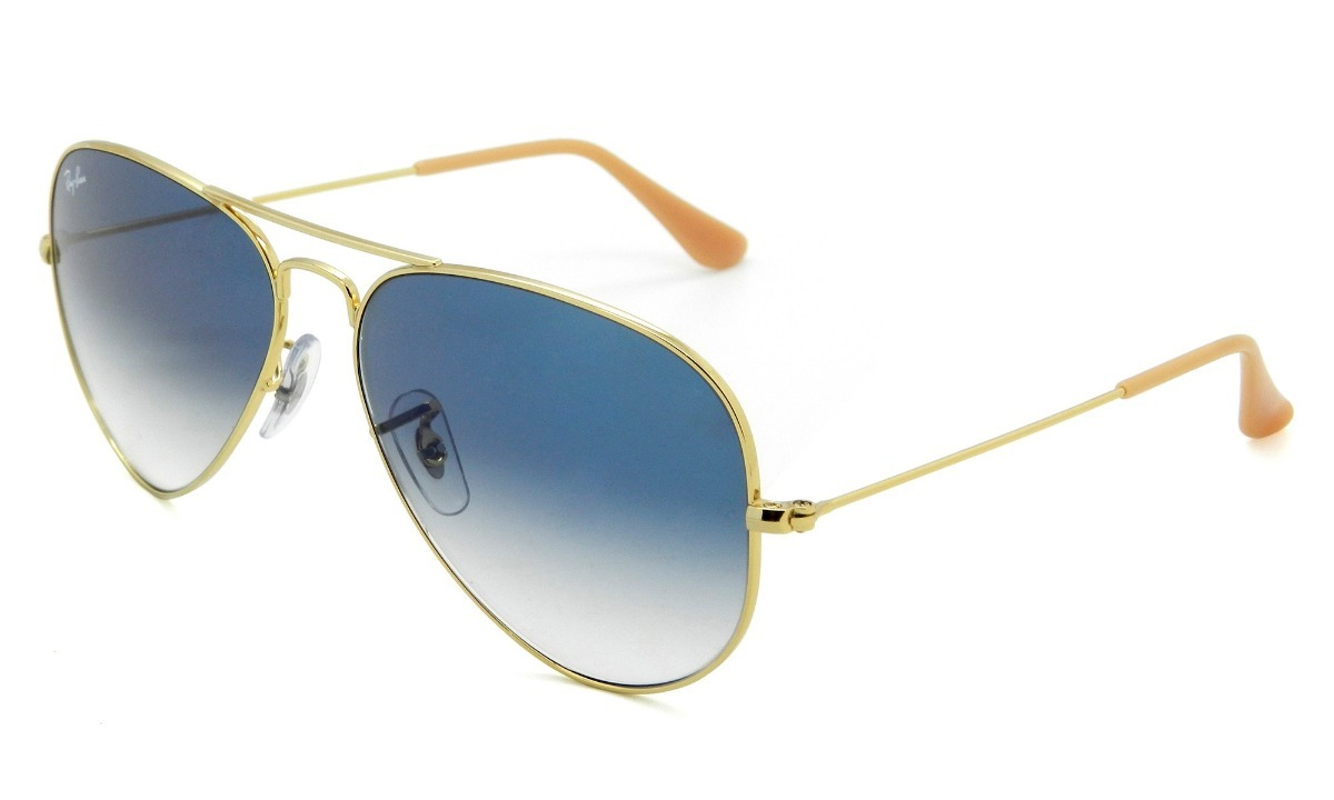 5c95c9d8be564 óculos de sol rayban aviador rb3025 dourado azul espelhado. Carregando zoom.