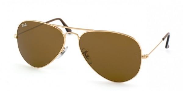 6e242b87e5439 Óculos De Sol Rayban Aviador Rb3025 Dourado Marrom Original - R  249 ...