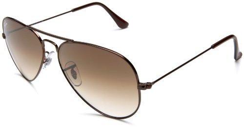 86c9c844b Óculos De Sol Rayban Aviador Rb3025 Marrom Degrade Original - R$ 249 ...