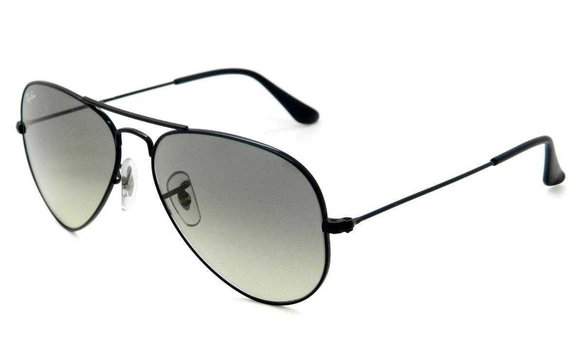 2a2fd22b3fed2 óculos de sol rayban aviador rb3025 preto cinza degrade. Carregando zoom.