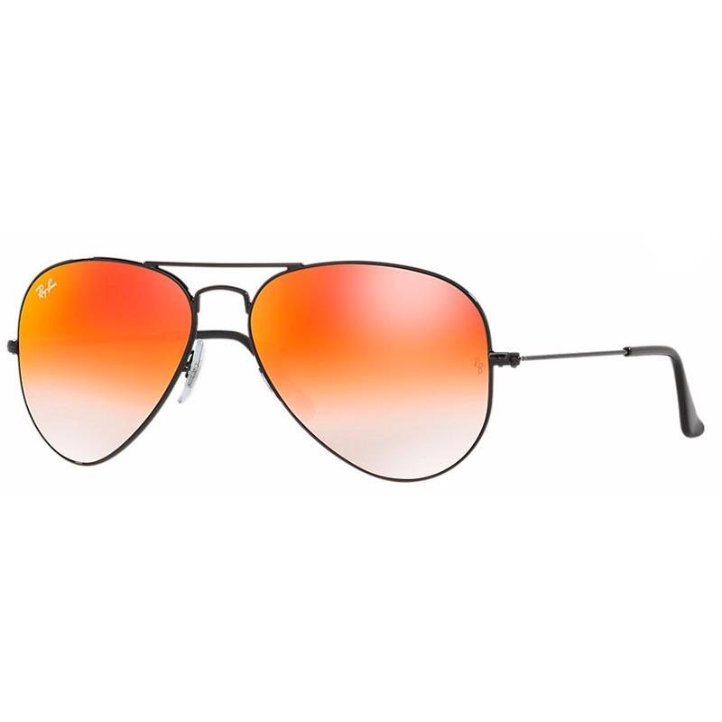 e12ee17a5f383 óculos de sol rayban aviador rb3025 preto vermelho espelhado. Carregando  zoom.