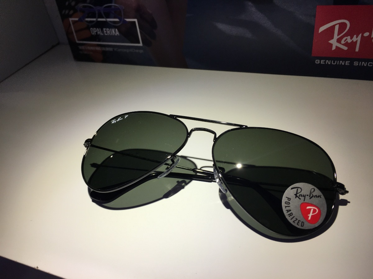 e459492956447 óculos de sol rayban aviador rb3025l polarizado original. Carregando zoom.