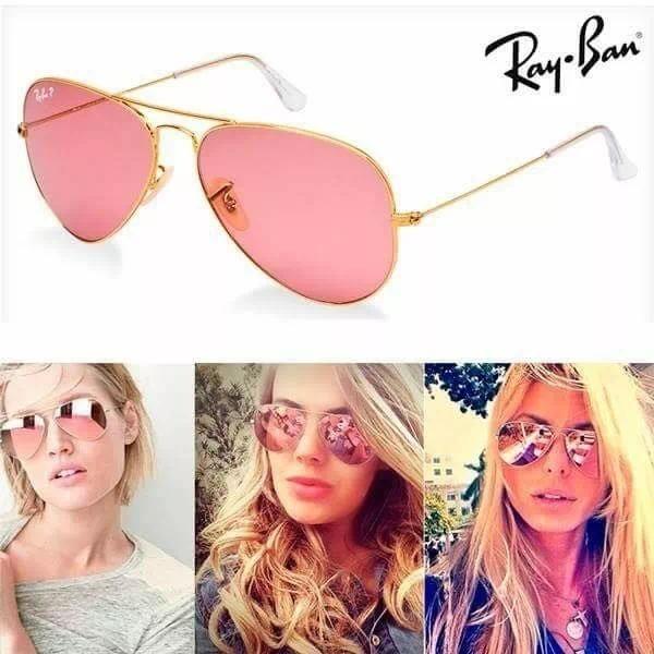 ccdfe4e72 Óculos De Sol Rayban Aviador Rosa Espelhado Rb3025 Feminino - R$ 249,90 em  Mercado Livre
