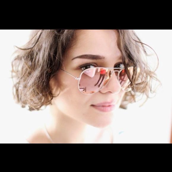 0cb1a0e85aa84 Óculos De Sol Rayban Aviador Rosa Espelhado Rb3025 Feminino - R  249,90 em  Mercado Livre
