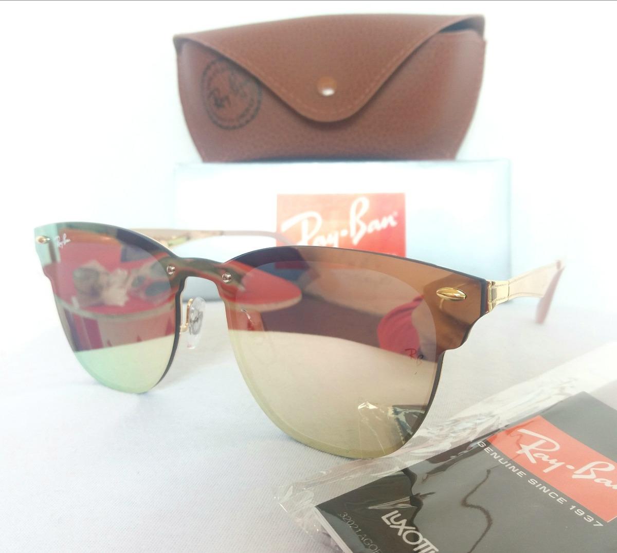 óculos de sol rayban blaze clubmaster rosa rose espelhado. Carregando zoom. 3426b763a2