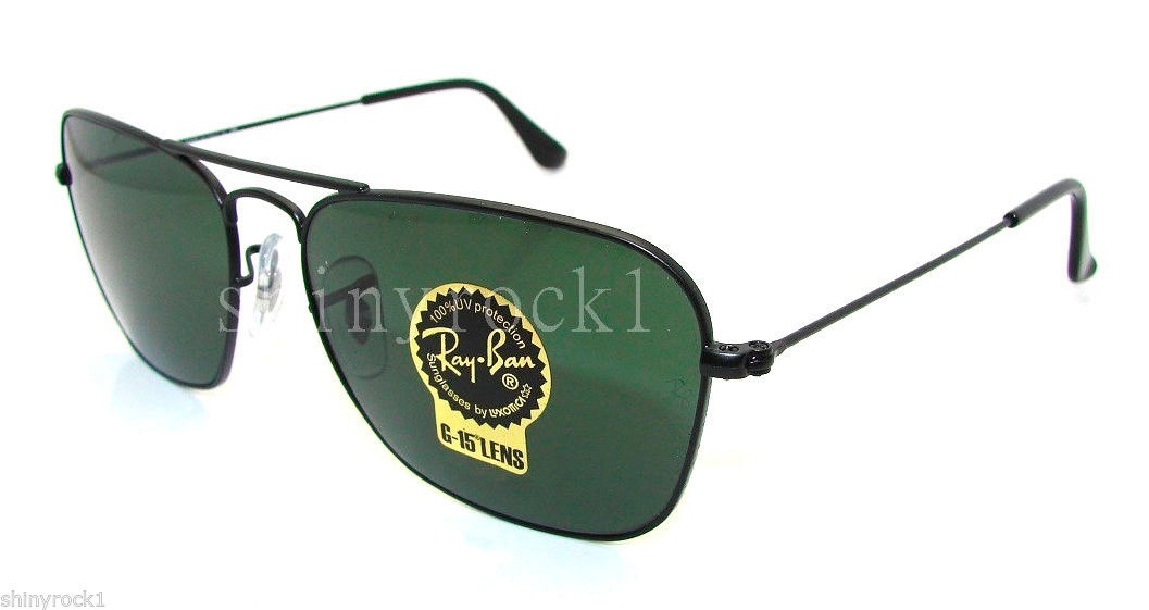 9bb6c18945 Óculos De Sol Rayban Caravan Rb3136 Preto Verde G15 Original - R ...