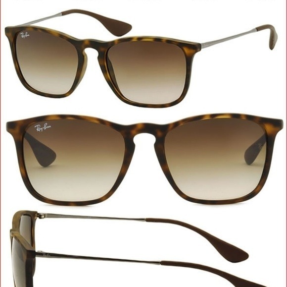 Oculos De Sol Rayban Chris Preto + Tartaruga   Frete Gratis - R  134 ... ffa3daf5af