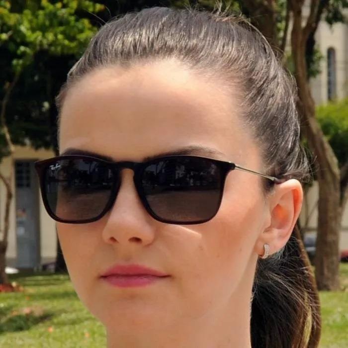 1ff404b9d9e37 Oculos De Sol Rayban Chris Rb4187 Preto Fosco Emborrachado - R  68 ...