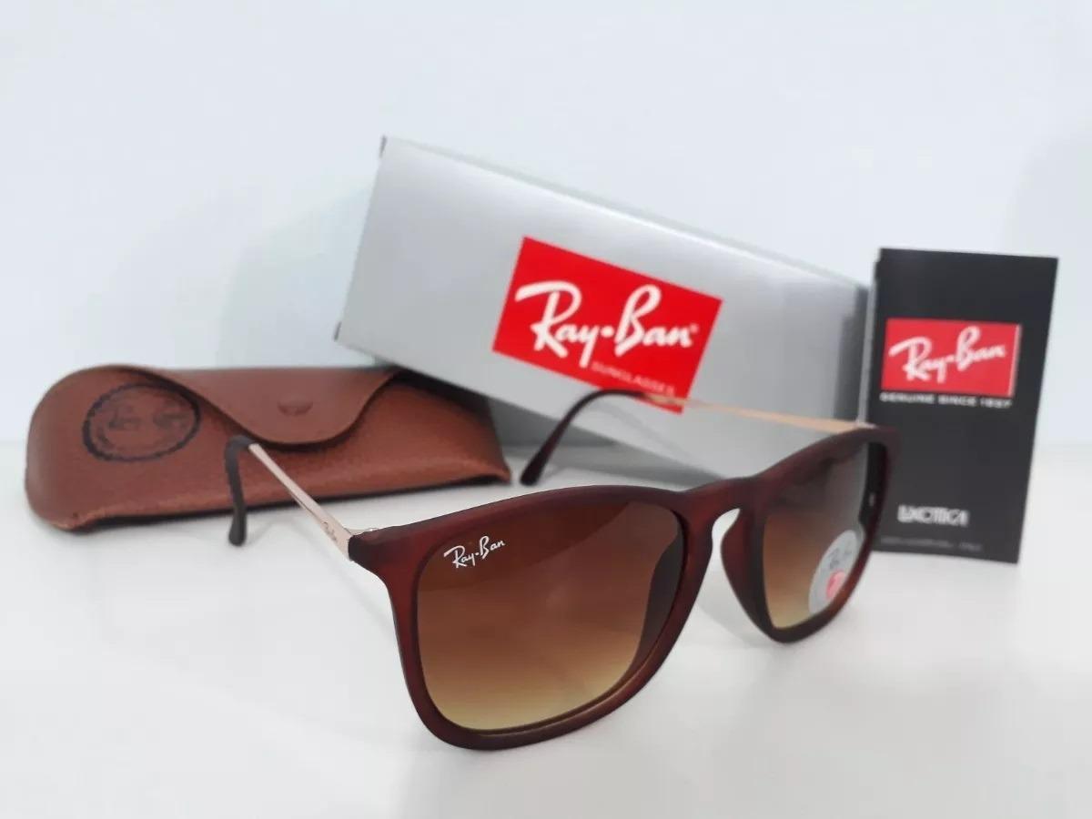 9c937a65ca2df oculos de sol rayban chris tartaruga + marrom   frete gratis. Carregando  zoom.