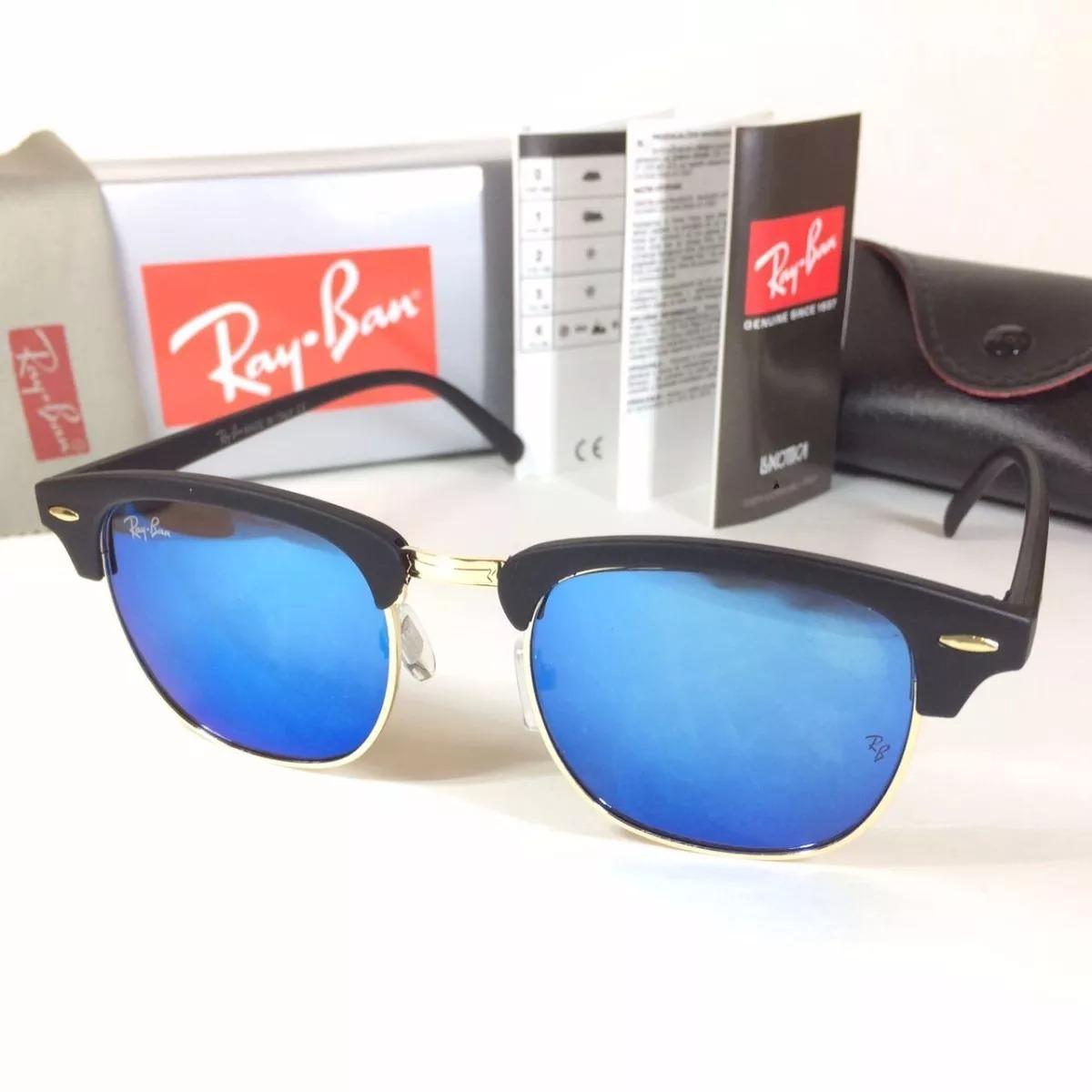 0433c8d96 oculos de sol rayban clubmaster azul espelhado /envio 24 hs. Carregando zoom .