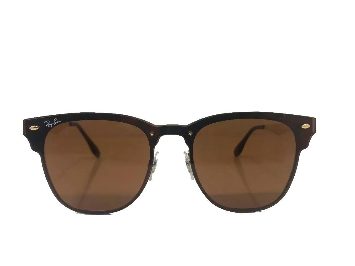 693e4efc31c85 Óculos De Sol Rayban Clubmaster Blaze Rb3576 Marrom Original - R ...