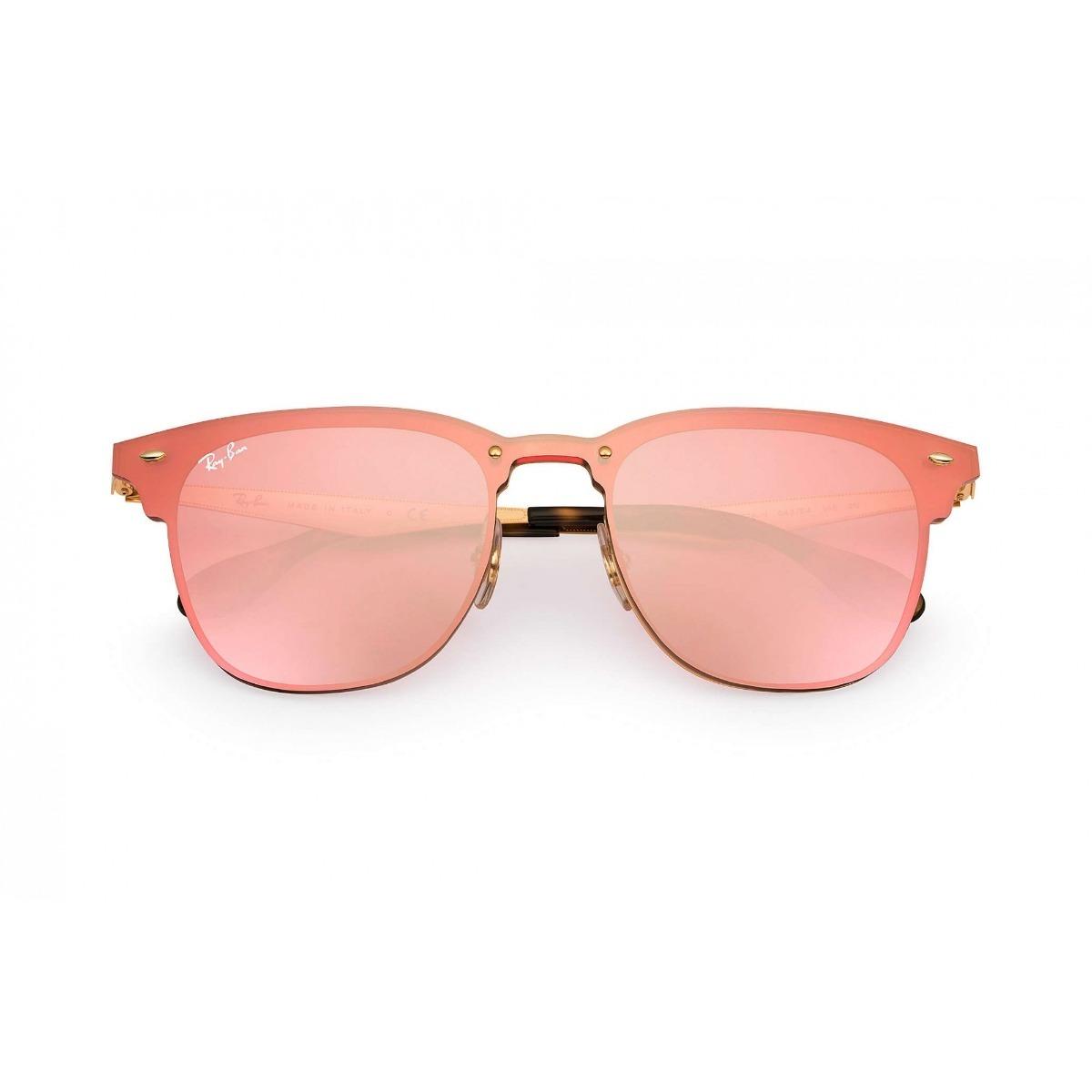 óculos de sol rayban clubmaster blaze rb3576 rosa espelhado. Carregando  zoom. 825c51ddd5