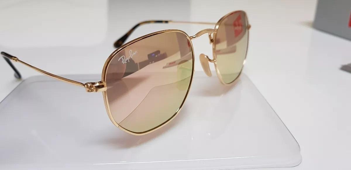 19b363ded76e9 oculos de sol rayban hexagonal lente rose   frete gratis. Carregando zoom.