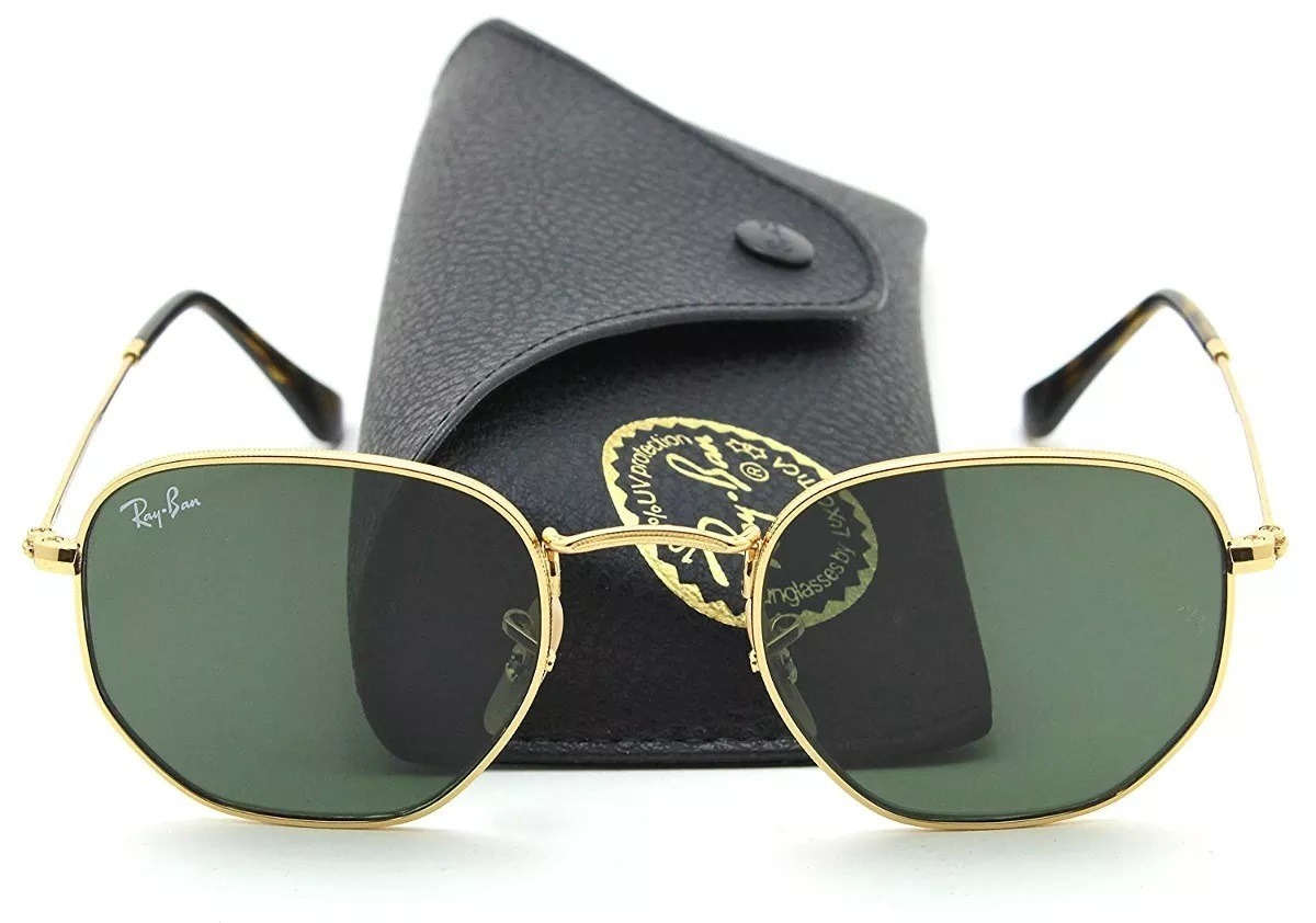 Oculos De Sol Rayban Hexagonal Lente Verde   Frete Gratis - R  129 ... 98c33b65aa
