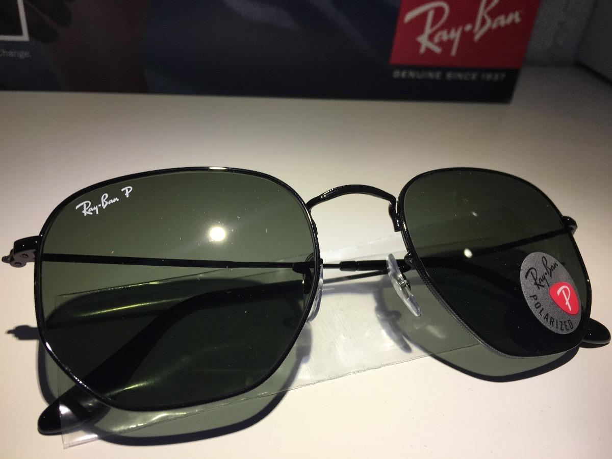 15c974e62b2f8 óculos de sol rayban hexagonal rb3548 polarizado original. Carregando zoom.