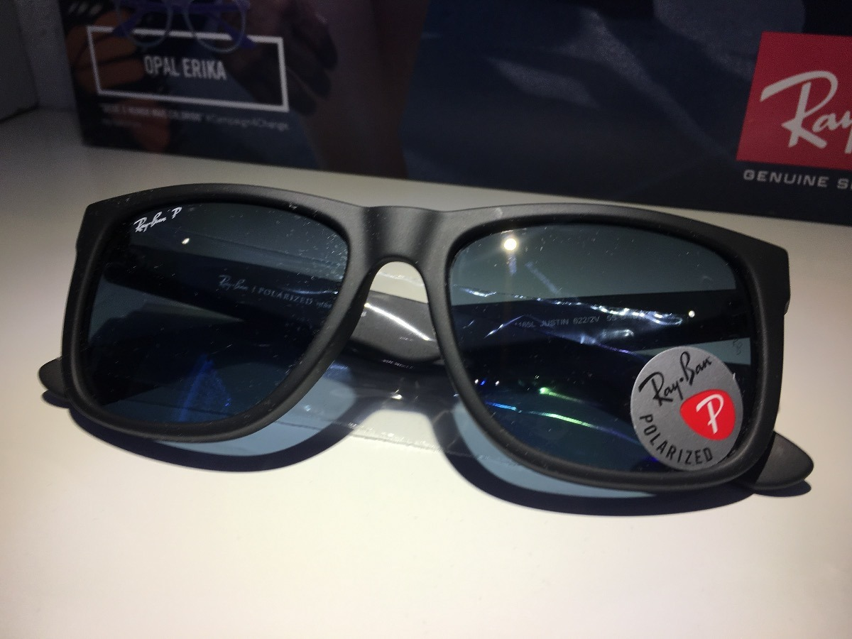 0457208cc8e8d óculos de sol rayban justin polarizado original barato. Carregando zoom.
