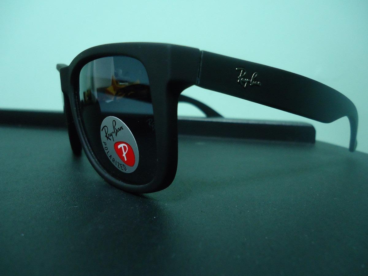 3cfaff6312c17 Oculos De Sol Rayban Justin Wayfarer Unissex Promoção - R  69