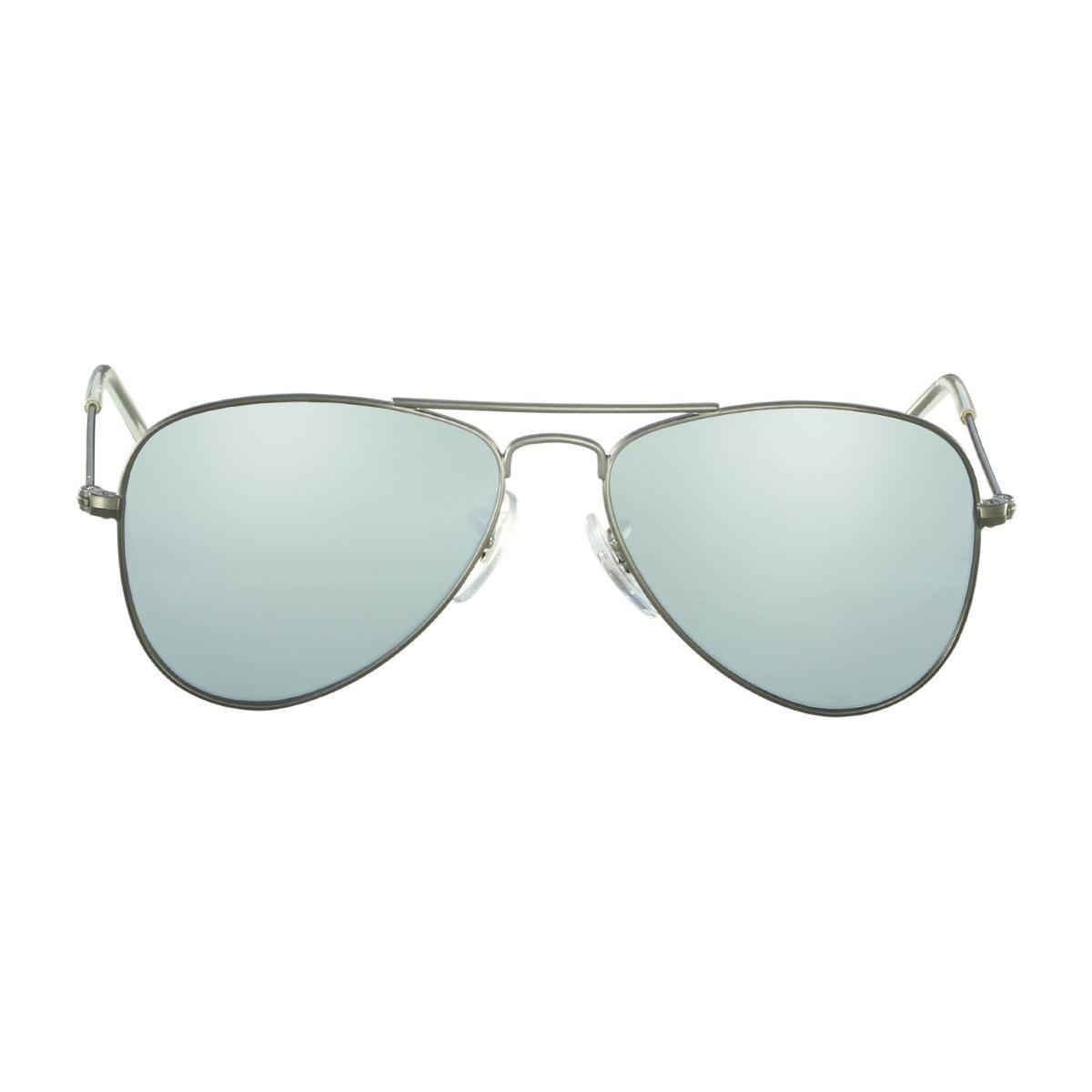 e4260f247b98a Óculos De Sol Rayban Kids Aviador Cinza - R  300,00 em Mercado Livre
