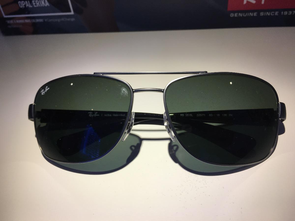 Óculos De Sol Rayban Rb3518 Lente Verde G15 Original - R  360,00 em ... 5d170519da