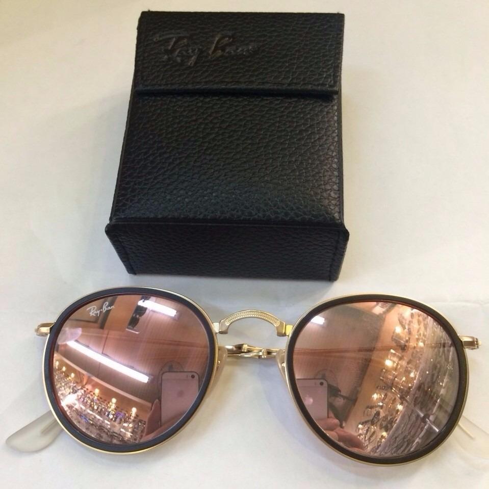 970b76940edee oculos de sol rayban round rose dobrável rb3517 que dobra. Carregando zoom.