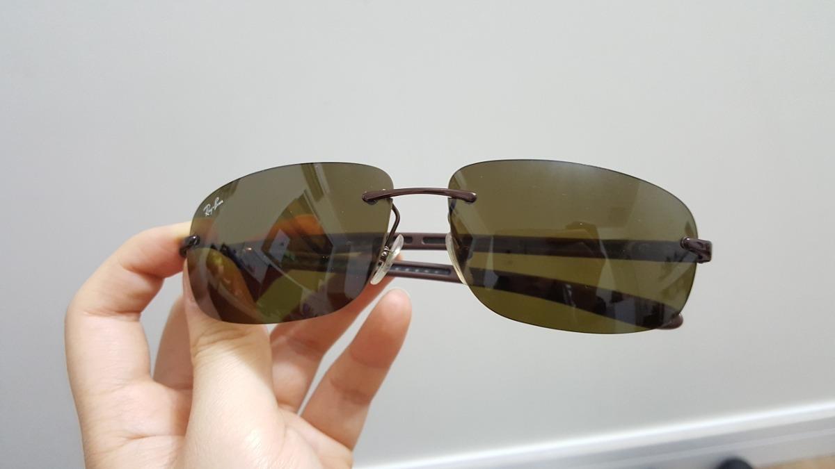 Óculos De Sol Rayban Usado Original Marrom - R  250,00 em Mercado Livre 44729a33ef