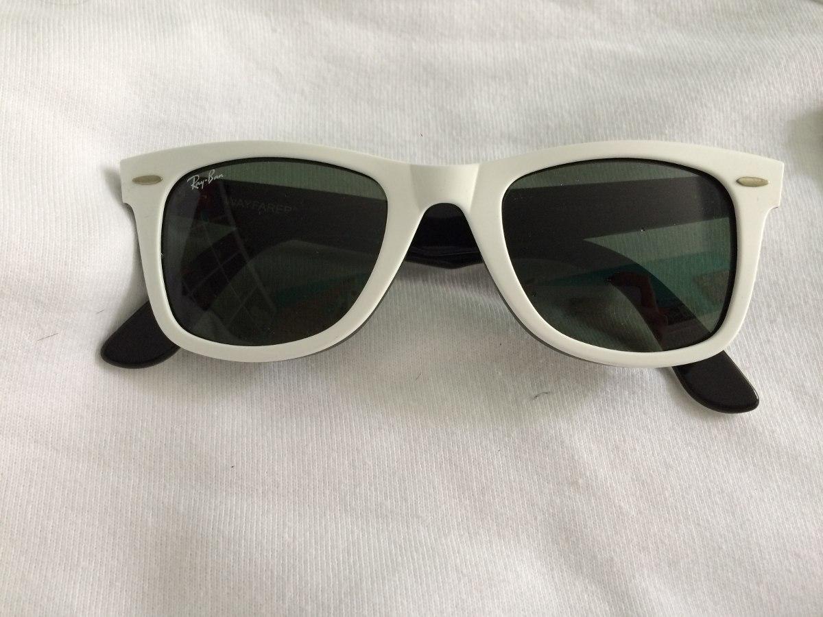 e76ce705b8385 óculos de sol rayban wayfarer branco. Carregando zoom.