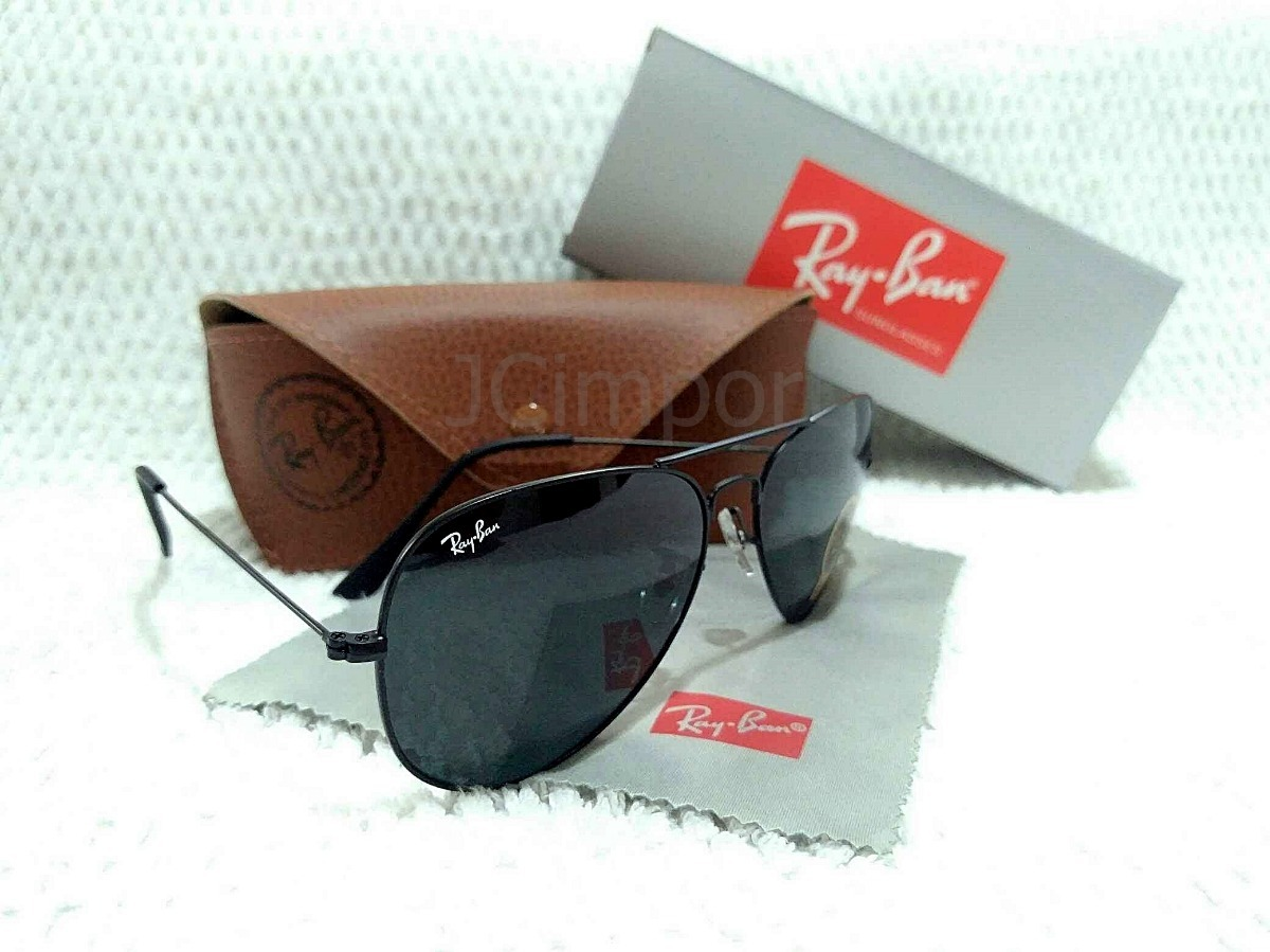 c6ab051e51669 óculos de sol rb aviador preto lentes com fator solar uv400. Carregando  zoom.
