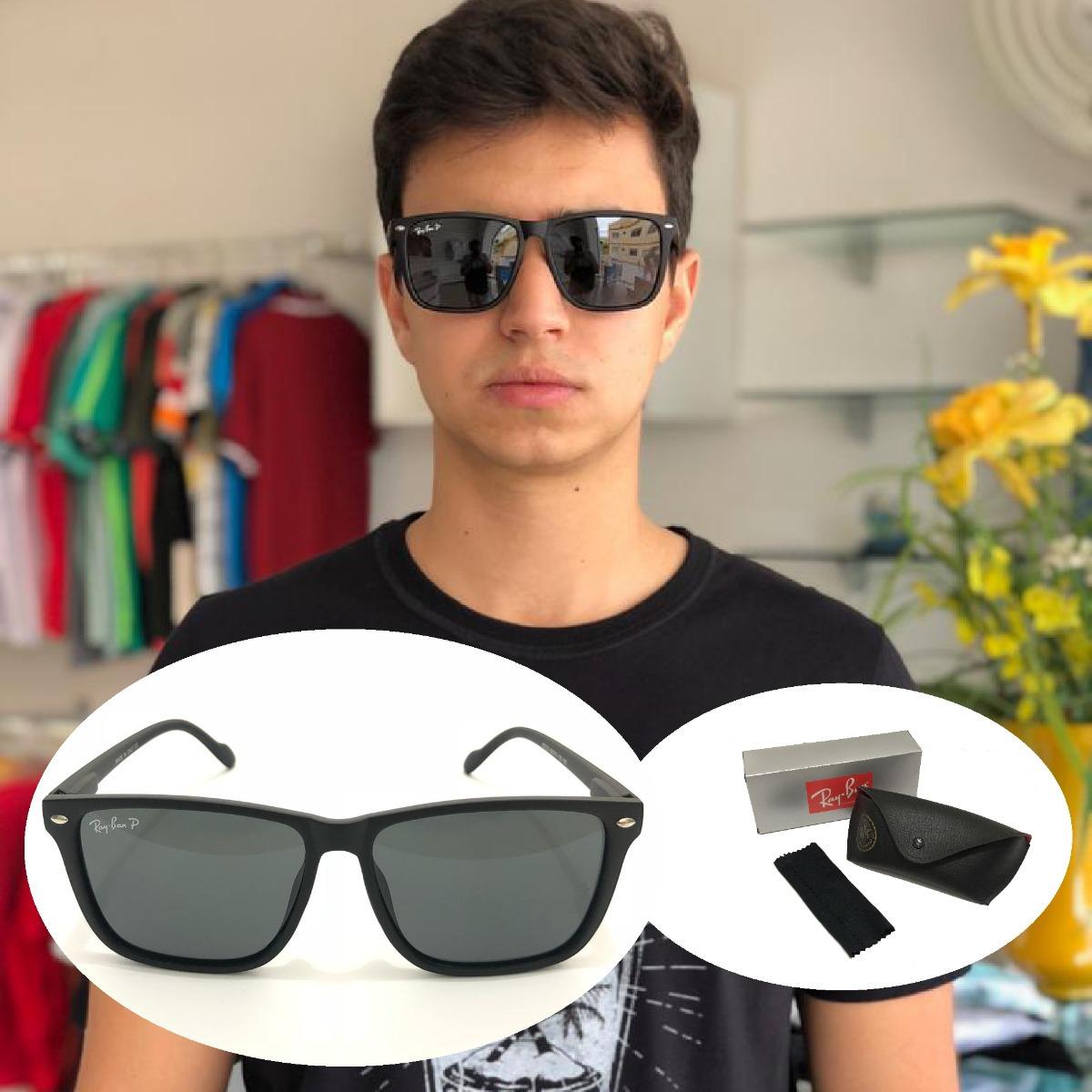 82200efd7 óculos de sol rb masculino wayfarer polarizado ray ban. Carregando zoom.