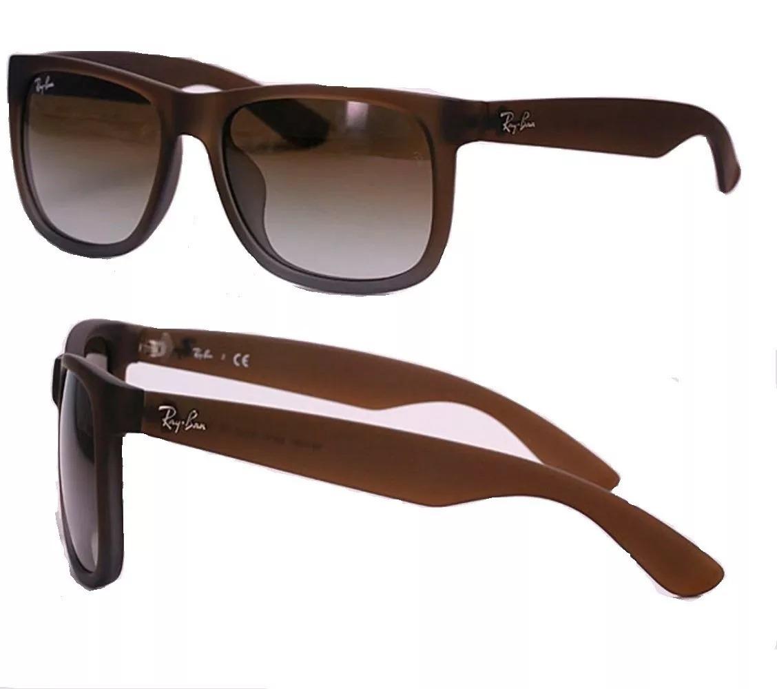 0d4b3fa6f80ac Óculos De Sol Rb4165 Ray Ban Justin Marrom Fosco - R  200