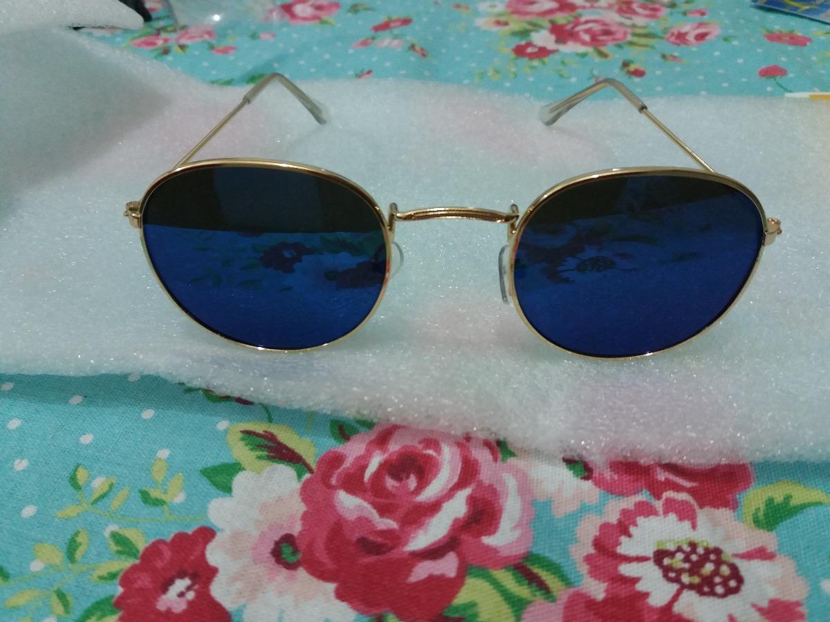 7c3fde82d óculos de sol redondo azul lentes espelhadas uv 400 barato. Carregando zoom.