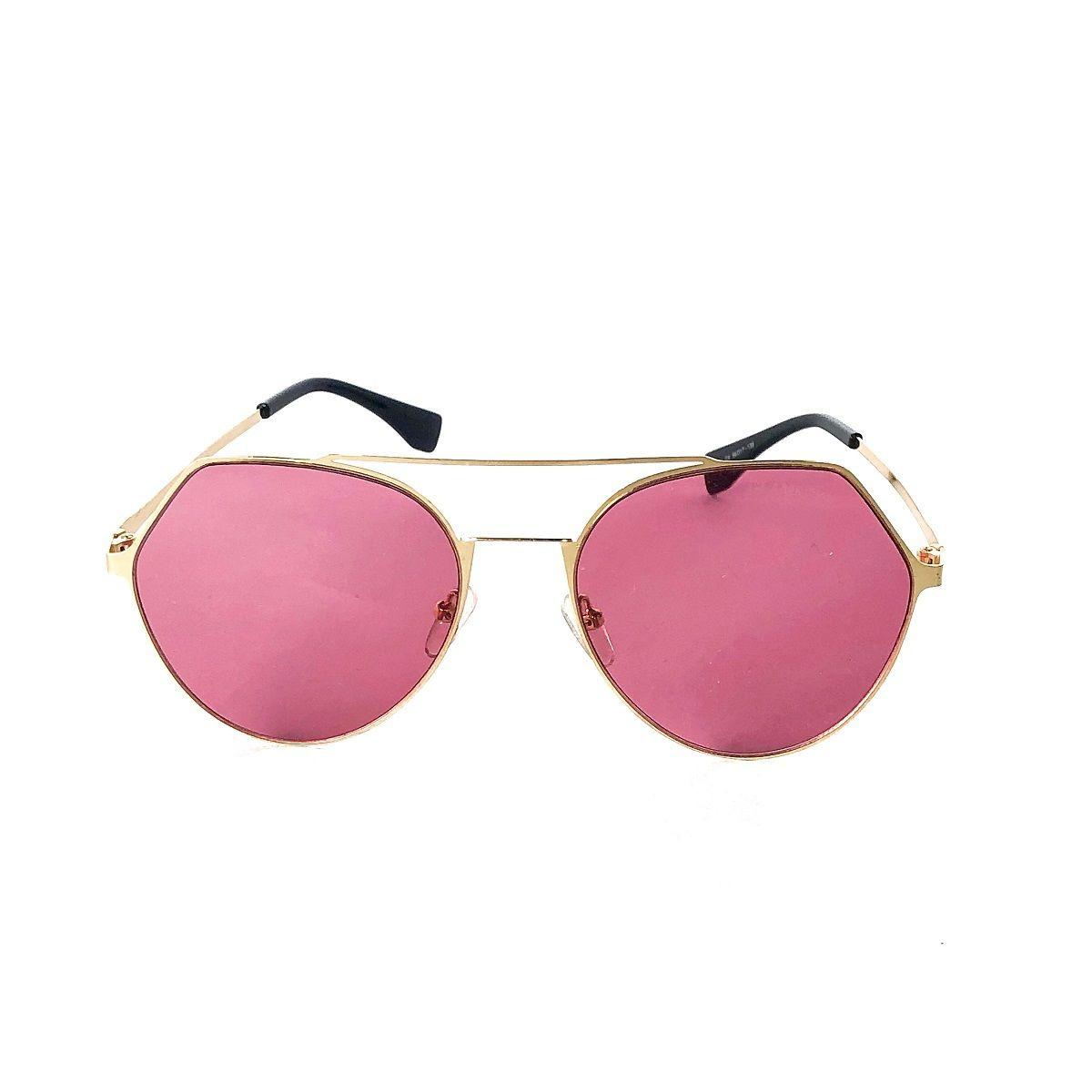 4617bebef Óculos De Sol Redondo Colorido Com A Lente Rosa Transparente - R$ 120,00 em  Mercado Livre