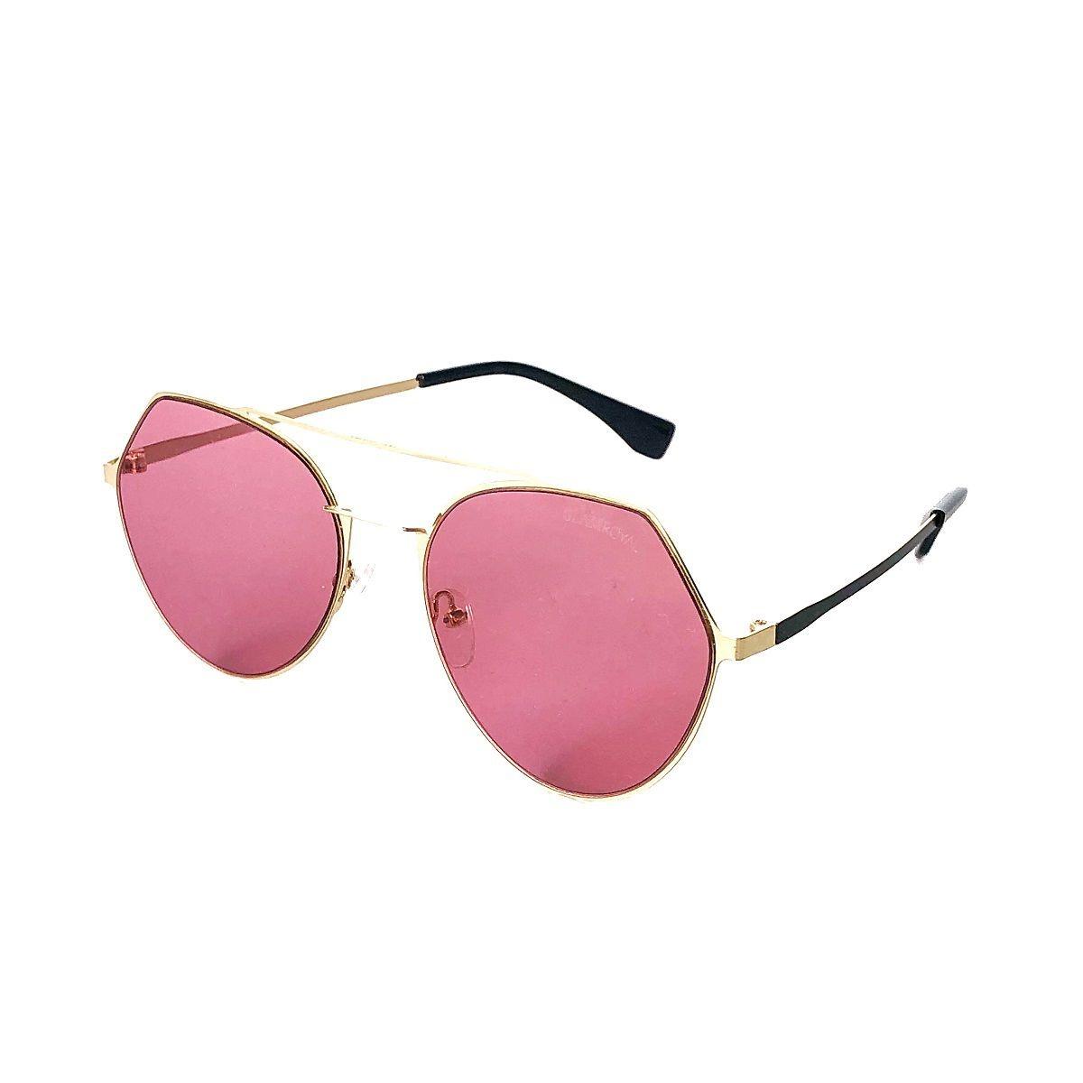 4de110ba2 Óculos De Sol Redondo Colorido Com A Lente Rosa Transparente - R ...
