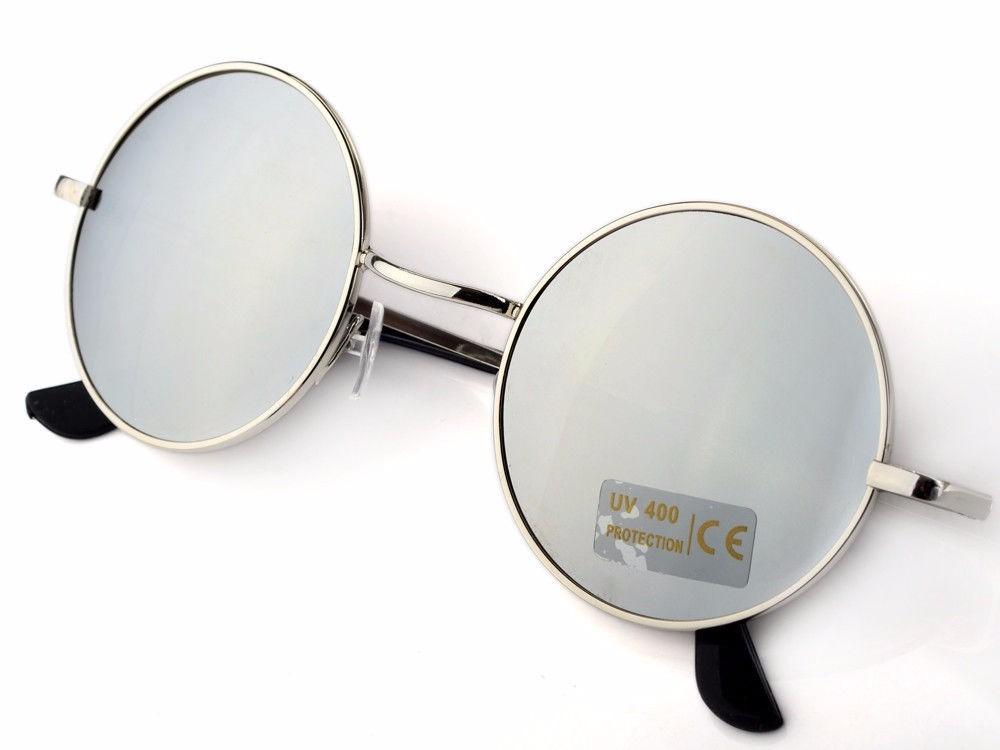 90eedcea7 oculos de sol redondo espelhado moda vintage proteção uv400. Carregando zoom .