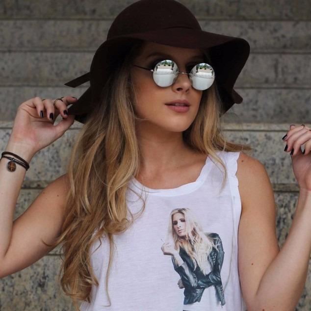 a5056ffae Oculos De Sol Redondo Espelhado Moda Vintage Proteção Uv400 - R$ 34 ...