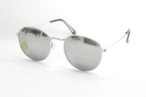 baf366258 Oculos De Sol Redondo Espelhado Prata Feminino Masculino - R$ 79,99 ...