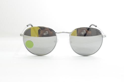2f1406150 Oculos De Sol Redondo Espelhado Prata Feminino Masculino - R$ 79,99 ...
