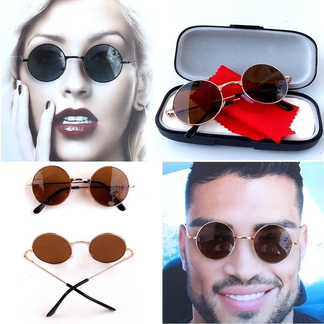 óculos de sol redondo estilo john lennon ozzy ou raul 4.7 cm. Carregando  zoom. 295637b863