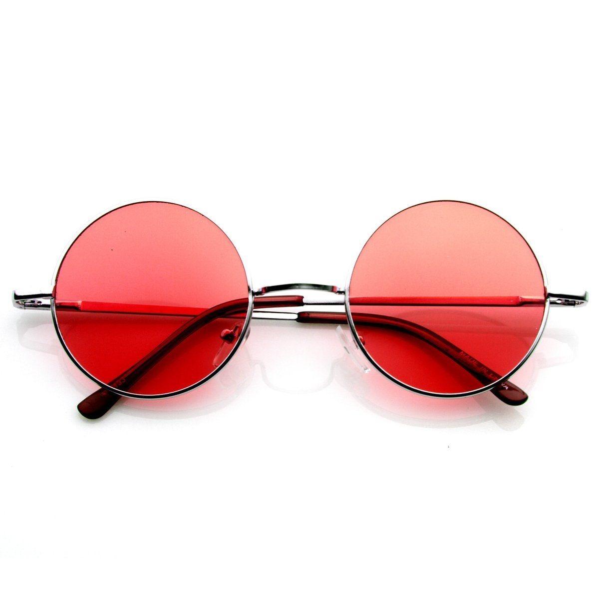 9739799c8df49 Óculos De Sol Redondo Estilo Ozzy John Lennon,vermelho - R  27,99 em ...