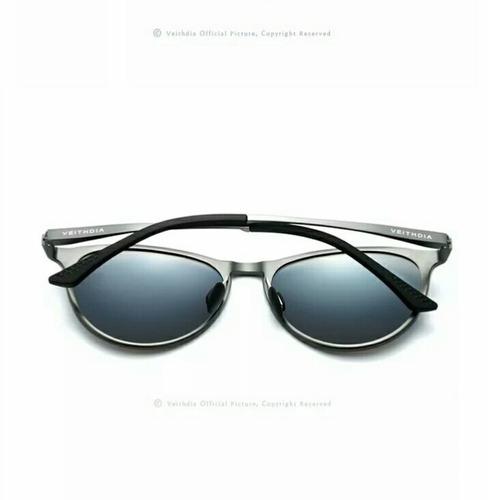 78c03e6f8fee3 Óculos De Sol Redondo Feminino Masculino Polarizado Alumini - R  129 ...